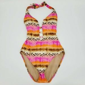 Kenneth Cole Reaction Exotic Plunge Swimsuit 1 Pc